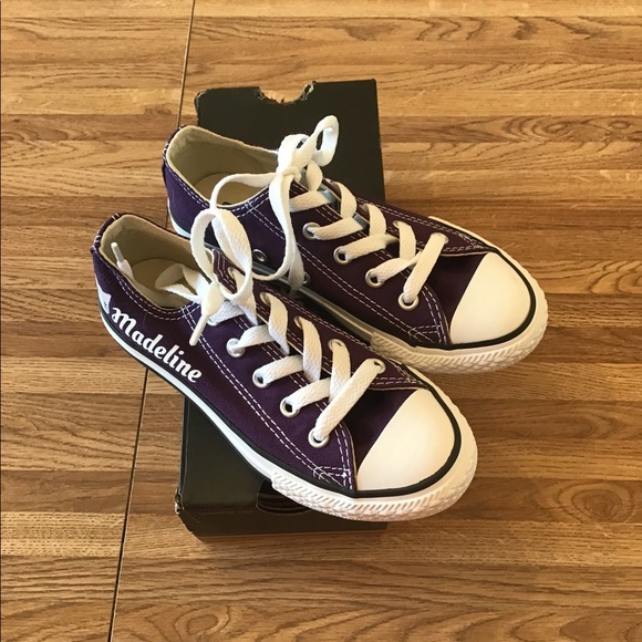 NWT Girls Purple Converse All Star Low Sneakers